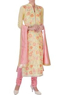 yellow-chanderi-silk-embroidered-long-kurta-set