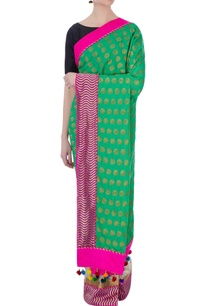 pink-green-banarasi-silk-sari