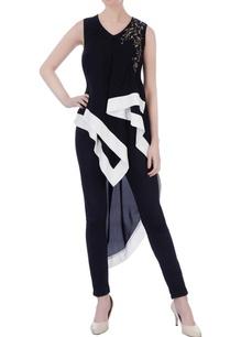 black-viscose-mettalic-embroidered-tunic