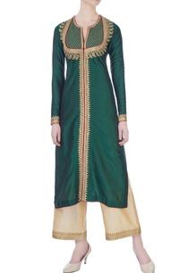 green-spun-silk-sequin-kurta