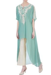 mint-green-double-georgette-embroidered-kaftan-kurta