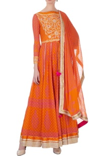 pink-rust-orange-gota-thread-embroidered-anarkali-set