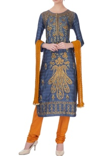 blue-viscose-silk-gota-embroidered-kurta-set