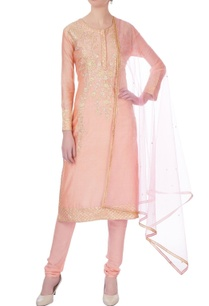 peach-gota-embroidered-chanderi-kurta-set