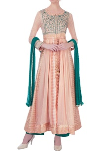 peach-green-gota-embroidered-chanderi-kurta-set