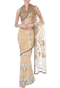 beige-gold-net-sari-blouse