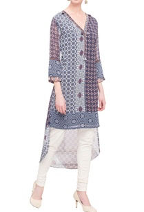 blue-printed-kurta