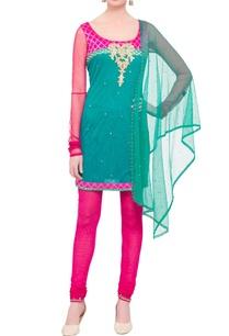 pink-turquoise-embellished-kurta-set
