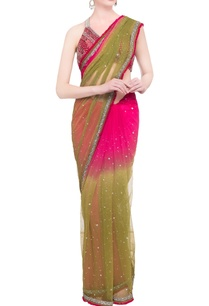green-pink-embellished-blouse-with-sari