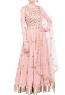 blush-pink-hand-woven-khadi-anarkali