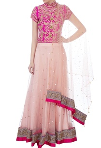 pink-sequin-embroidered-blouse-with-lehenga-dupatta