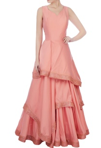 blush-pink-raw-silk-ruffle-layered-gown