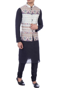 white-nehru-jacket-in-multicolored-floral-print