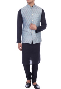 blue-screen-printed-nehru-jacket