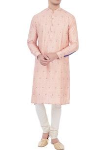 pink-cotton-brocade-kurta