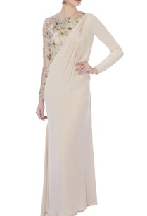 beige-embroidered-sari-gown