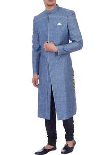 powder-blue-linen-textured-sherwani