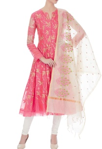 pink-chanderi-embroidered-kurta-with-beige-embroidered-dupatta