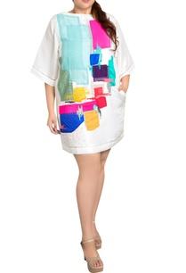 white-dupion-silk-graphic-print-shift-dress