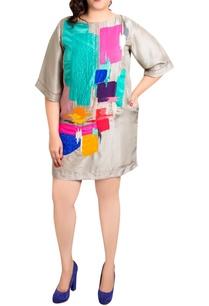 grey-dupion-silk-graphic-print-shift-dress