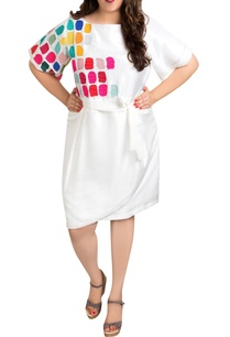 white-dupion-silk-tile-art-overlap-dress