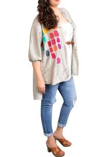 grey-dupion-silk-tile-print-shirt