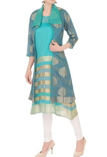 blue-reverse-collar-front-open-jacket-with-inner-kurta