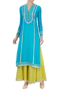 blue-viscose-machine-embroidered-kurta-with-sharara