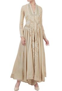 light-brown-chanderi-dori-work-gown