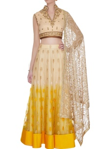 shaded-nude-yellow-georgette-tulle-resham-zardozi-work-blouse-with-skirt-dupatta