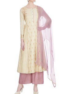 cream-pink-tissue-kurta-set