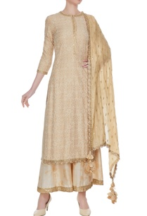 beige-gold-sequin-embroidered-kurta-palazzo-set