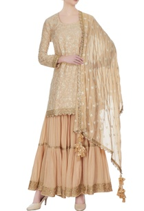 beige-gold-threadwork-kurta-set