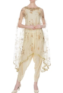 beige-gold-sequin-embroidered-cape-with-tulip-pants-short-kurta