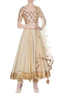 beige-chanderi-net-embroidered-anarkali-kurta-with-churidar-dupatta