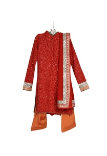 red-pre-embroidered-collar-kurta-with-patiala-net-dupatta