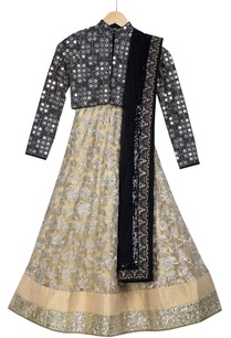 beige-pre-embroidered-skirt-with-net-dupatta-mirror-blouse