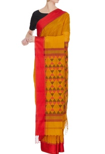 yellow-orange-handloom-chanderi-silk-sari-with-unstitched-blouse
