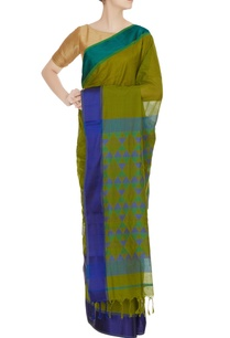 blue-green-woven-chanderi-silk-saree-with-unstitched-blouse
