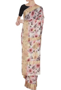 ivory-rose-pink-floral-digital-printed-handloom-saree-with-unstitched-blouse