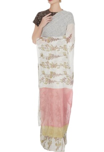 white-linen-mayflower-block-printed-handloom-sari-with-unstitched-blouse