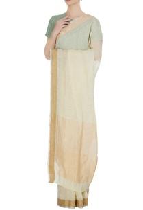 vanilla-linen-hand-woven-zari-work-saree-with-unstitched-blouse