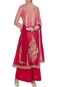 pink-chanderi-embroidered-a-line-kurta-with-palazzos-dupatta