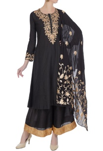 black-embroidered-chanderi-kurta-with-palazzos-embroidered-dupatta