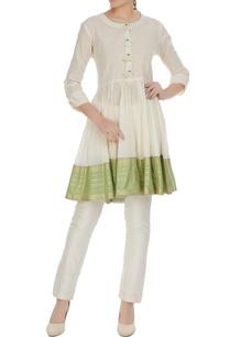 white-cotton-golden-striped-tasseled-blouse