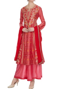 salmon-pink-coral-machine-embroidered-anarkali-set