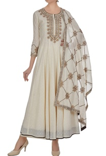 cream-anarkali-with-palazzo-pants-dupatta