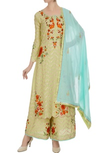 lime-green-kurta-set-in-multicolored-floral-embroidery