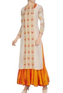 white-yellow-cotton-long-kurta