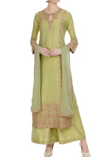 light-green-cotton-machine-embroidered-kurta-set